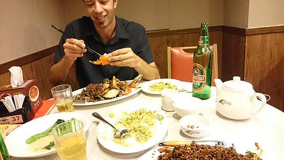 eating on the Asian risk tour