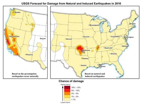 USGS forecast for earthquake damage