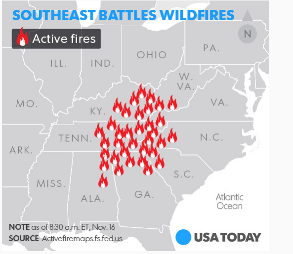 Southeast Battles Wildfires